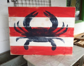 Large Hand Painted Crab