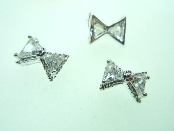 3d diamond bow nail art diamond 3d bow nail art diamond