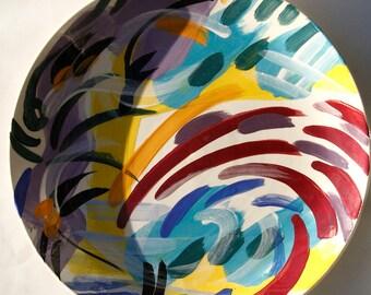 2 Vintage Mark Horiuchi signature painted Plates