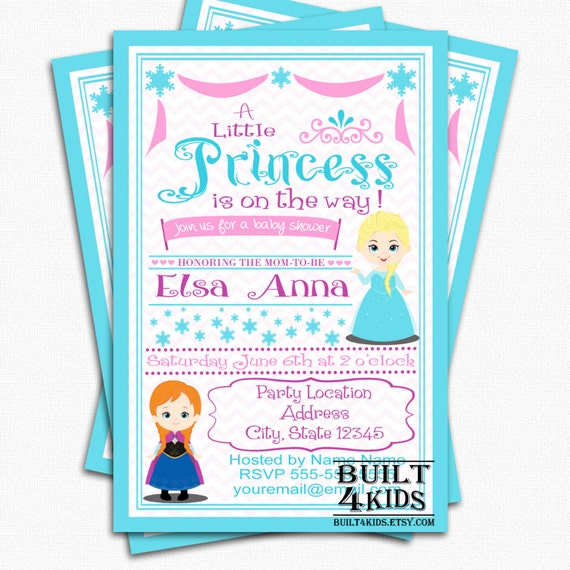 frozen baby shower invitation