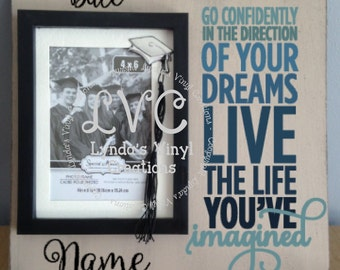 Go Confidently in the direction picture frame sign