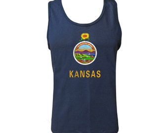 Kansas State Flag Tank - Navy