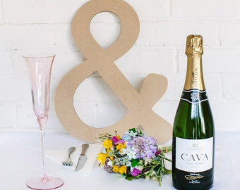 Wedding Ampersand Prop, Wooden Oversized '&' for Special Occasion Photography or Mr and Mrs Decor