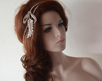 Rhinestone Headband, Bridal Headband, Wedding Headband, Headband Wedding Wrap, Bridal Hair Accessories, Wedding hair Accessory