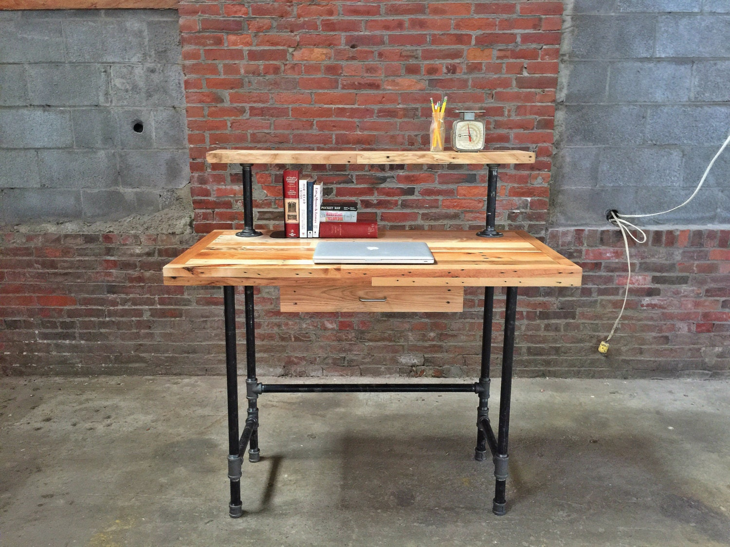 Reclaimed stand up desk by thepalletshop on etsy