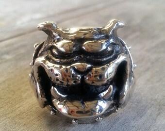 RESERVED PitBull bull dog bull mastiff ring sterling silver ring steampunk gothic punk