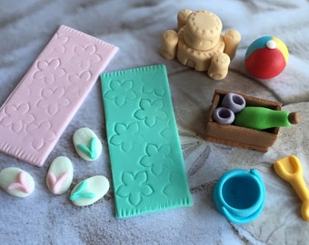 Fondant Beach Cake Decorating Set