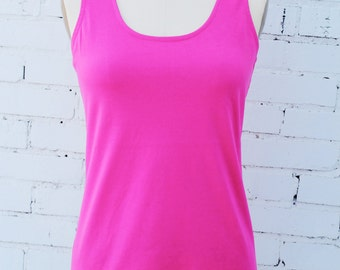 SALE! Pink organic cotton, eco friendly fair trade tank top