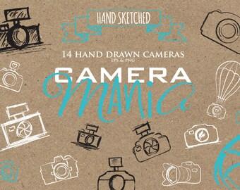 Camera Clip Art - photography clipart - watermark camera logo - photography logo cameras - png and vector cameras