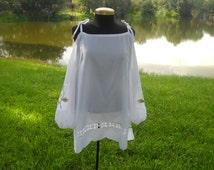 White Cold Shoulder Dress - Size Medium - One of a Kind