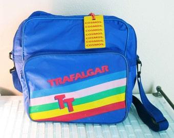 Rainbow Canvas Carry On Bag Blue Messenger Bag