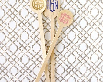 Monogram Drink Stirrers - Set of 100