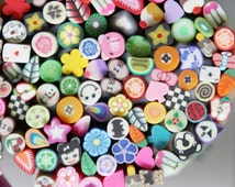 50 pcs  Polymer Clay Cane Fimo Cane glass bottles filling and  Decoration and Nail Art