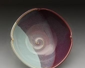 Handmade Stoneware Pottery Purple and Turquoise by Mark Hudak
