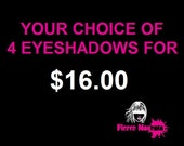 GET 4 EYESHADOWS of your choice for USD16 - Natural - Mineral- Promotion - Sale - Special Offer