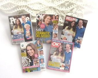 dollhouse princess charlotte royal magazines 12th scale miniature x 5