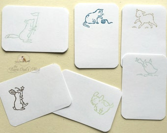 30 Children's Book Plates, Animal Book Plates, Book Name Stickers, Book Name Plates, Baby Shower Gift, Kid's Book Plates Gift Set