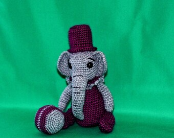 Elephant, Amigurumi Elephant, Waldorf, Crochet Elephant, Zoo, Circus elephant, Plush, Minature, Thread crochet