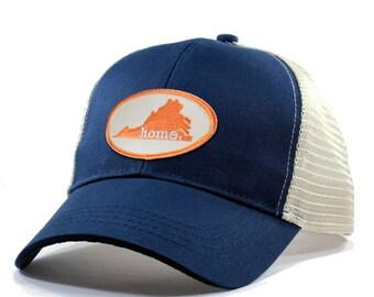 Homeland Tees Virginia Home Trucker Hat - Orange Patch