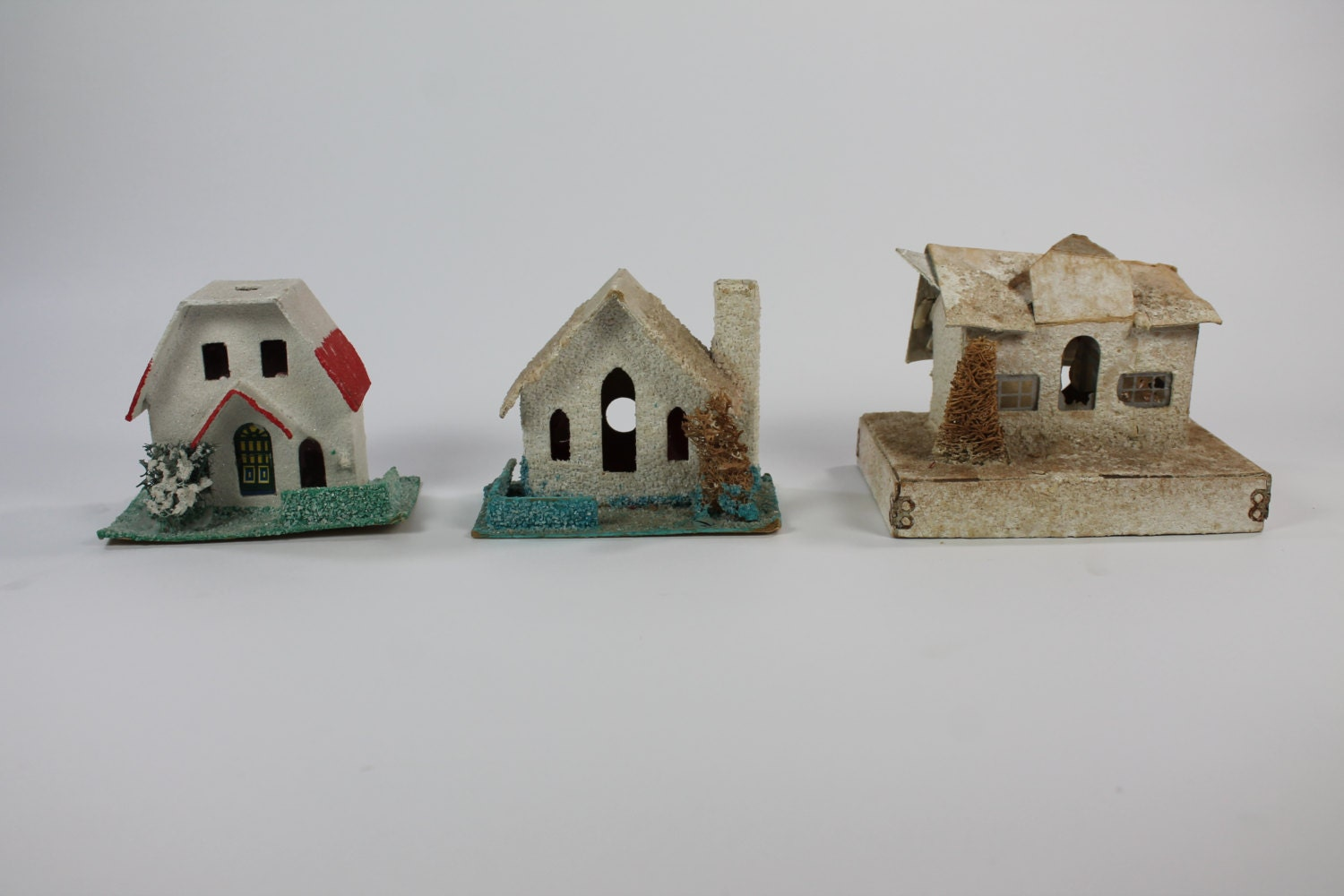 Mini Holiday Houses Decorative Homes Vintage Paper House