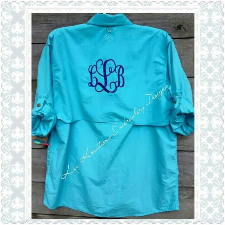 Fishing shirt monogrammed by kaykreations2012 on etsy for Monogram fishing shirt