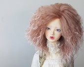 "BJD mohair wig - 8/9"" - Antique Pink"