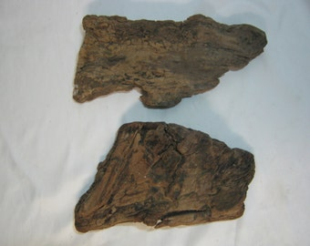Driftwood Pieces - Driftwood Bark - Craft Supplies - 2 Bark Pieces