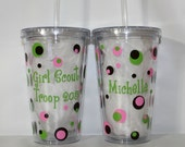 """Personalized """"Scout"""" Acrylic Tumbler 16oz or 20oz - Gift - Birthday - Club - Mom - Thank You"""