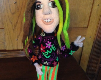 Chuck, The Needle Felted Hippie