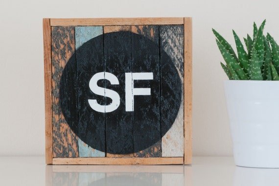 "6""x6"" SF Stark & Steel Series #125 || Modern Reclaimed Artworks"