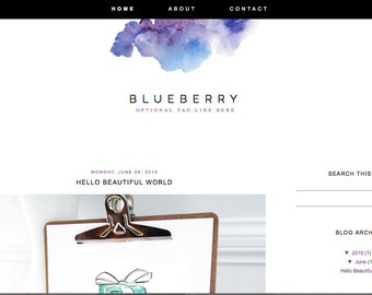 simple blog template etsy