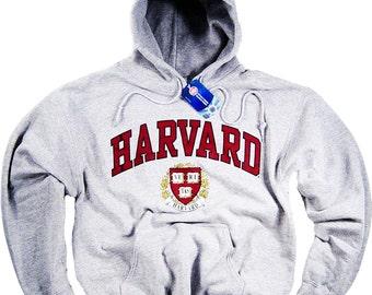 Harvard Hoodie T-Shirt Law College University Crimson Crew NCAA Officially Licensed