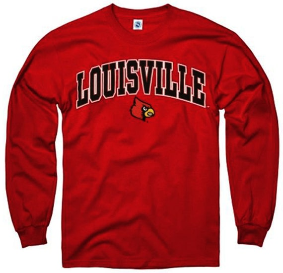 Louisville shirt t shirt cardinals college by for Louisville t shirt printing
