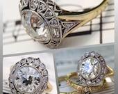 The CvB Lisette French Cut Diamond Halo Ring Setting