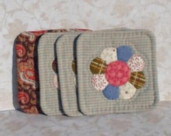 Handmade Cotton Shabby Chic Mug Mats