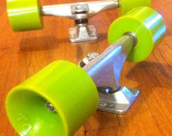 Long Board skateboard wheels and truck hand assembled set up for your next longboard made USA