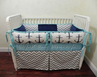 custom nautical baby bedding set catalina girl baby