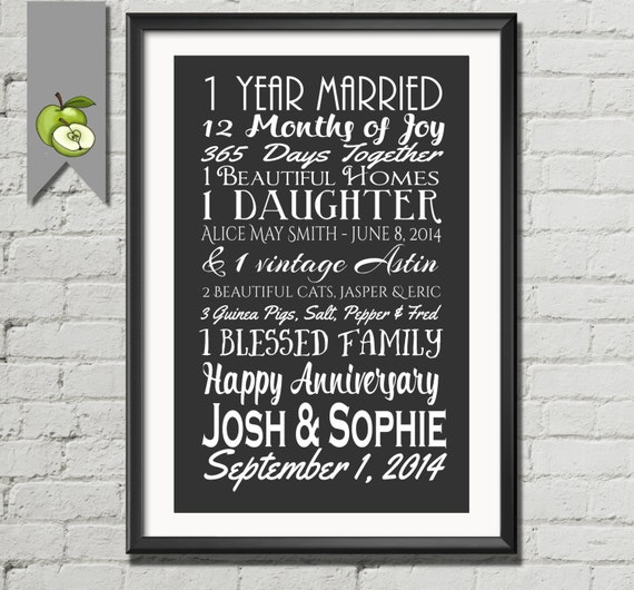 25th Wedding Anniversary Gift Ideas For Sister : 1st anniversary gift, wedding subway, wife, husband, mom, Subway, I ...