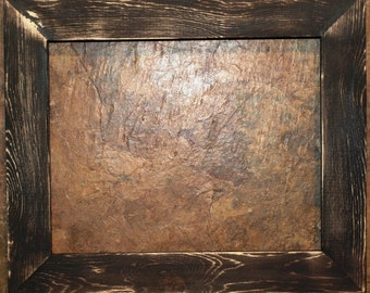 """1-1/2"""" Black Distressed Picture Frame"""
