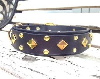 "Dog leather collar 1.5"""