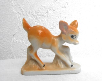 Vintage Porcelain Fawn Looks like Bambi