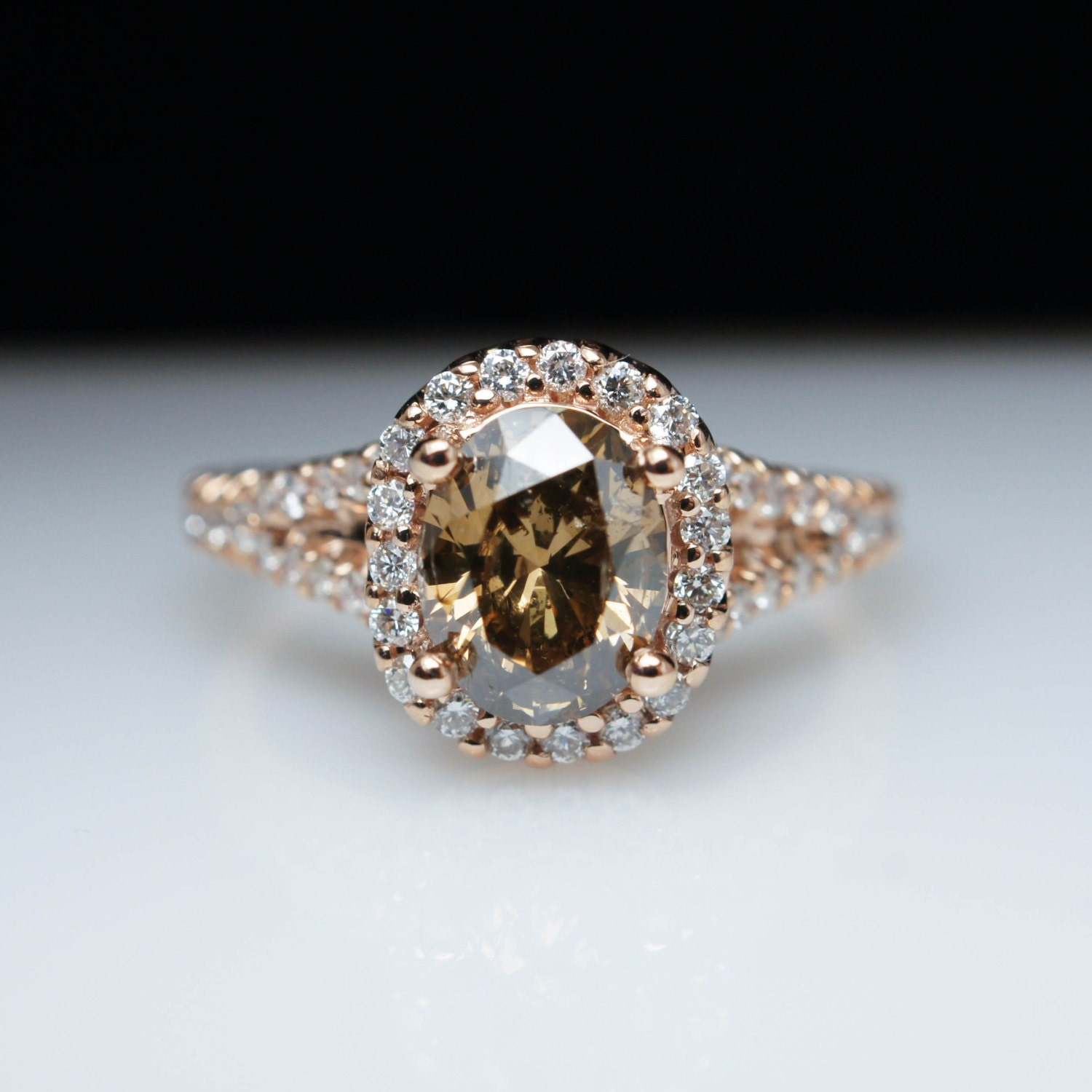 Diamond Engagement Ring Rose Gold Engagement 🔎zoom