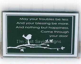 Irish Blessing Wood Sign