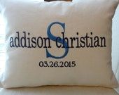 """Personalized Baby Gift - unique monogrammed baby gift -Pillow - 16""""x12"""" - pillow - insert included"""