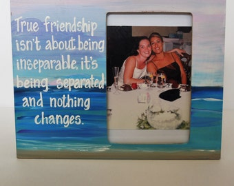 best friend picture frame long distance friend picture frame custom free photo frame with quote made to order any colors