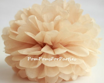 1 High Quality TAN Tissue Pom Pom - Choose any of 50 colours - Hanging  Paper flower - Tissue paper balls - Tissue paper pom poms