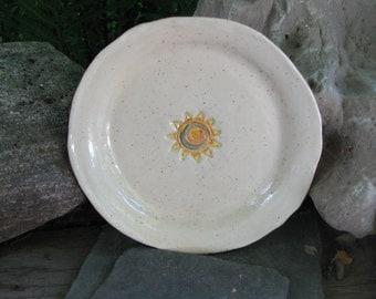 Ceramic Sun Plate, Ceramic Sunshine Dish, Trinket Dish
