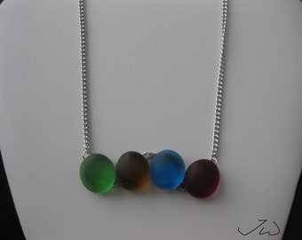 Colorful Round glass necklace