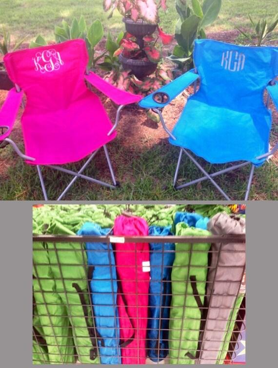 Monogrammed folding chair beach chair lawn chair bag chair stadium