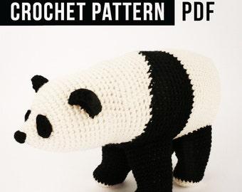 Crochet Pattern in PDF / Panda Bear